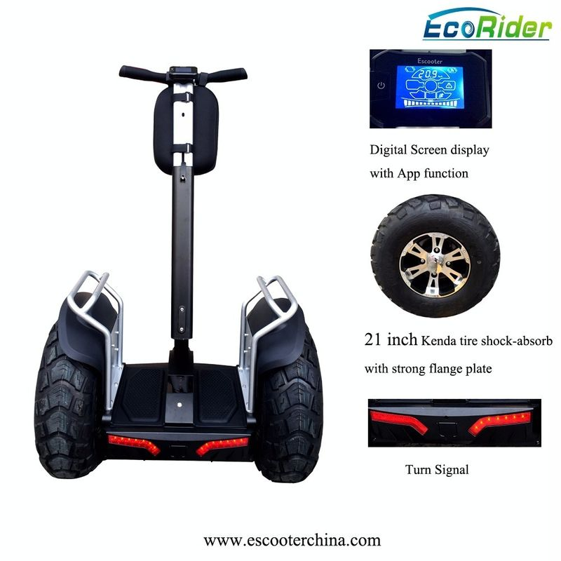 E8-2 4000w Double Battery Two Wheels Electric Chariot Scooter With 21 Inch Tire